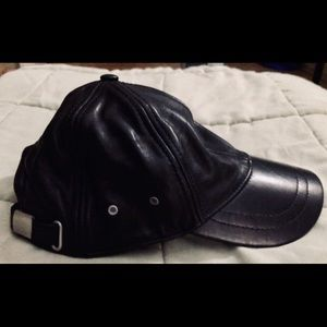 Faux Leather Baseball Hat!